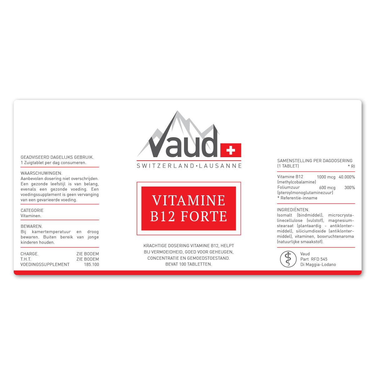 Vitamine b12 forte ondersteuning