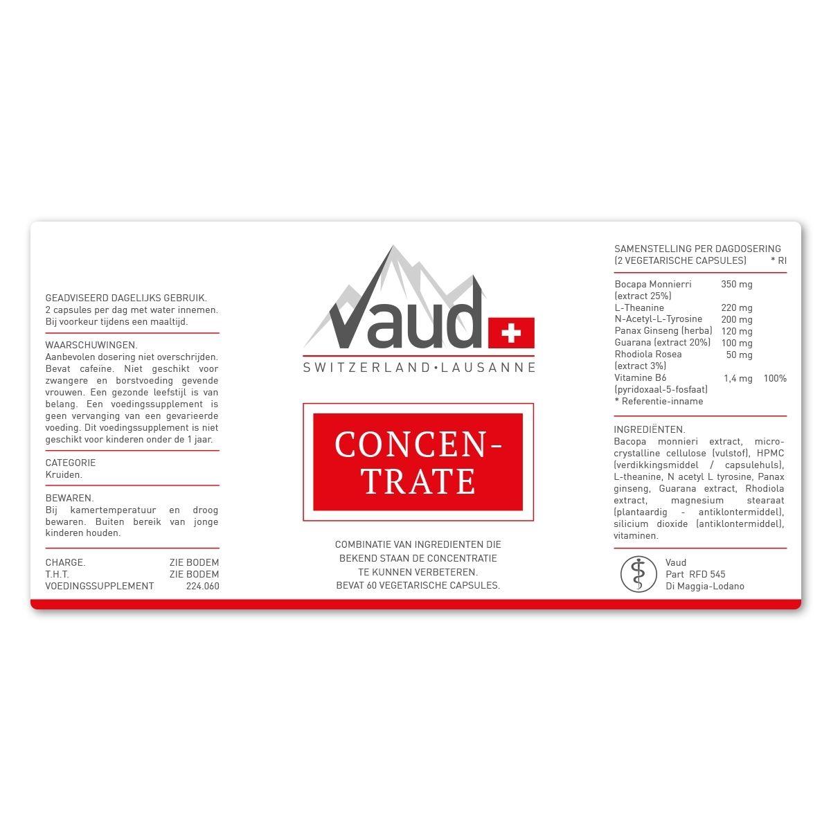 concentratie pil label