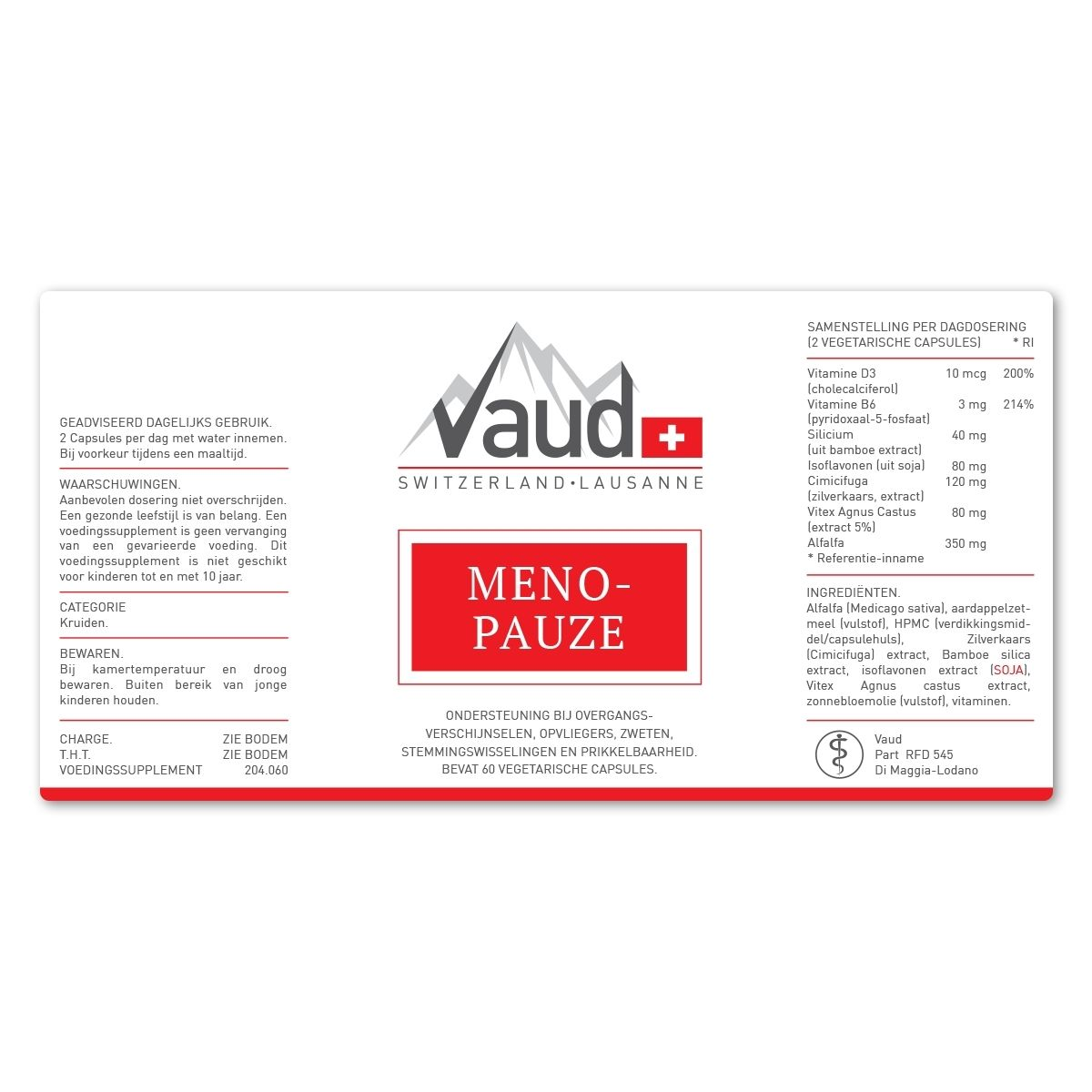 menopauze label