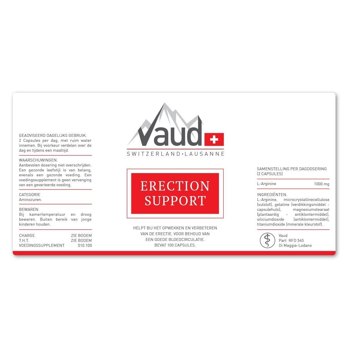 erectie pil label