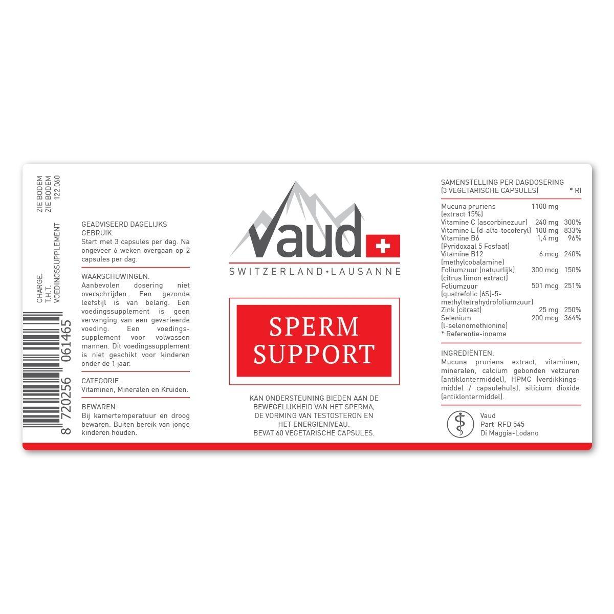 supplement vruchtbaarheid man label